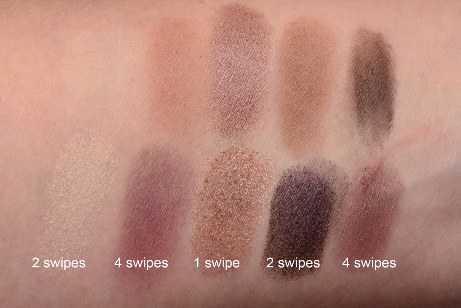 Ulta Artistry Eye Shadow Kit Swatches vs Hourglass Modernist