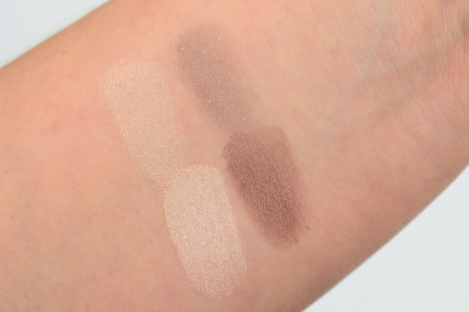Hourglass Eyeshadow Duo Swatches- Suede/Gypsy