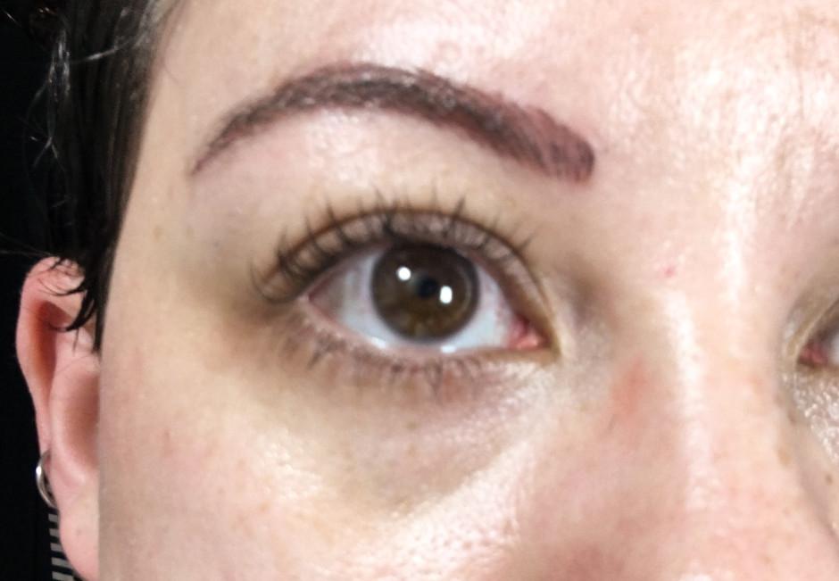 Eyebrow Tattoo Immediately After