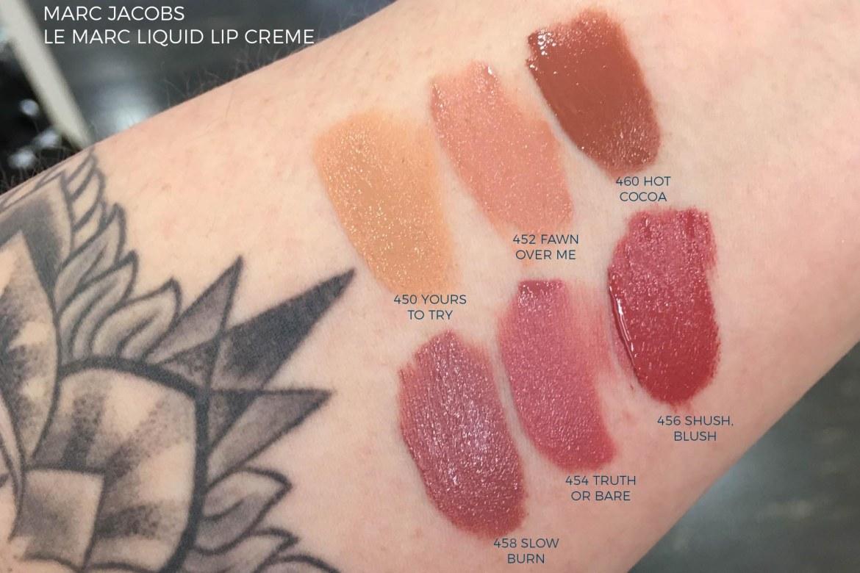 Lipstick swatches galore - Marc Jacobs Le Marc Liquid Lip Creme