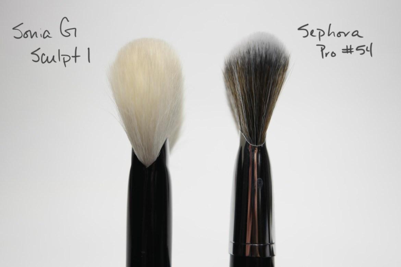Sonia G Sculpt 1 vs Sephora Pro #54