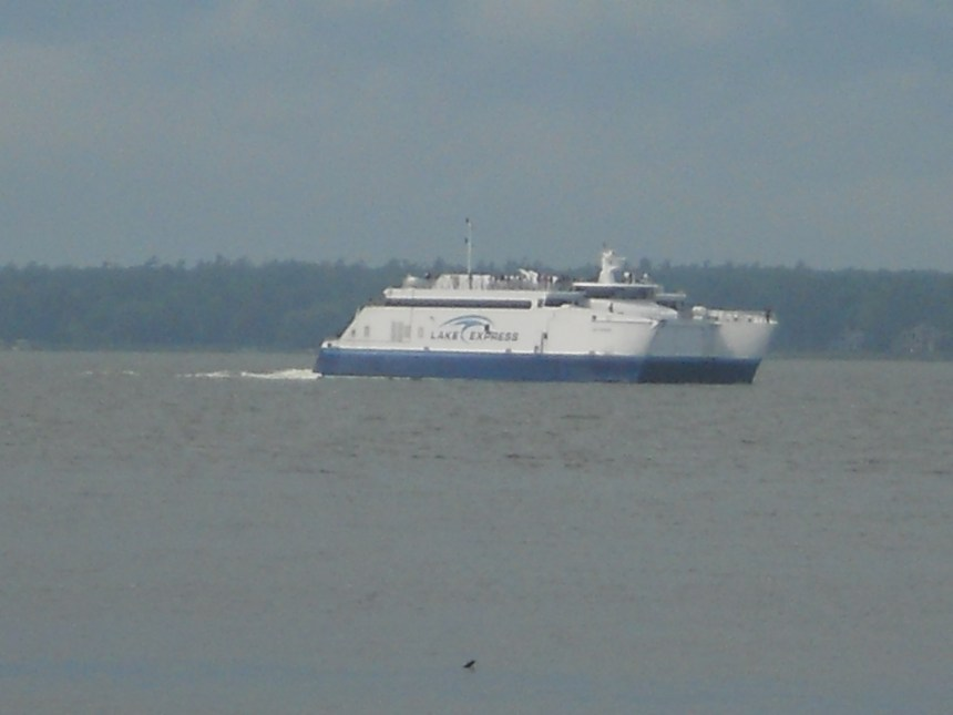 The Lake Express arrives in Muskegon