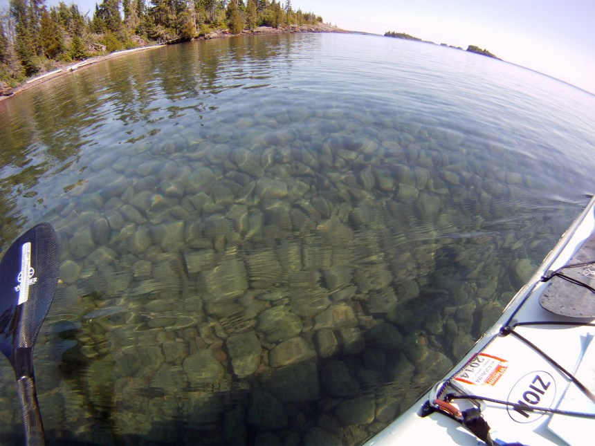 The crystal clear waters around Isle Royale never cease to amaze.