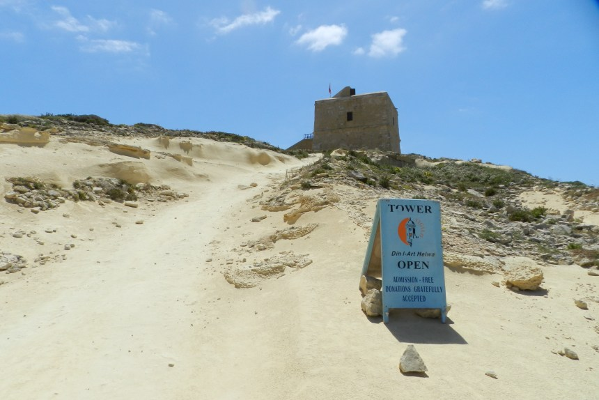 The Dwejra Tower was built in 1651 to guard the coastline of Dwejra from invaders.