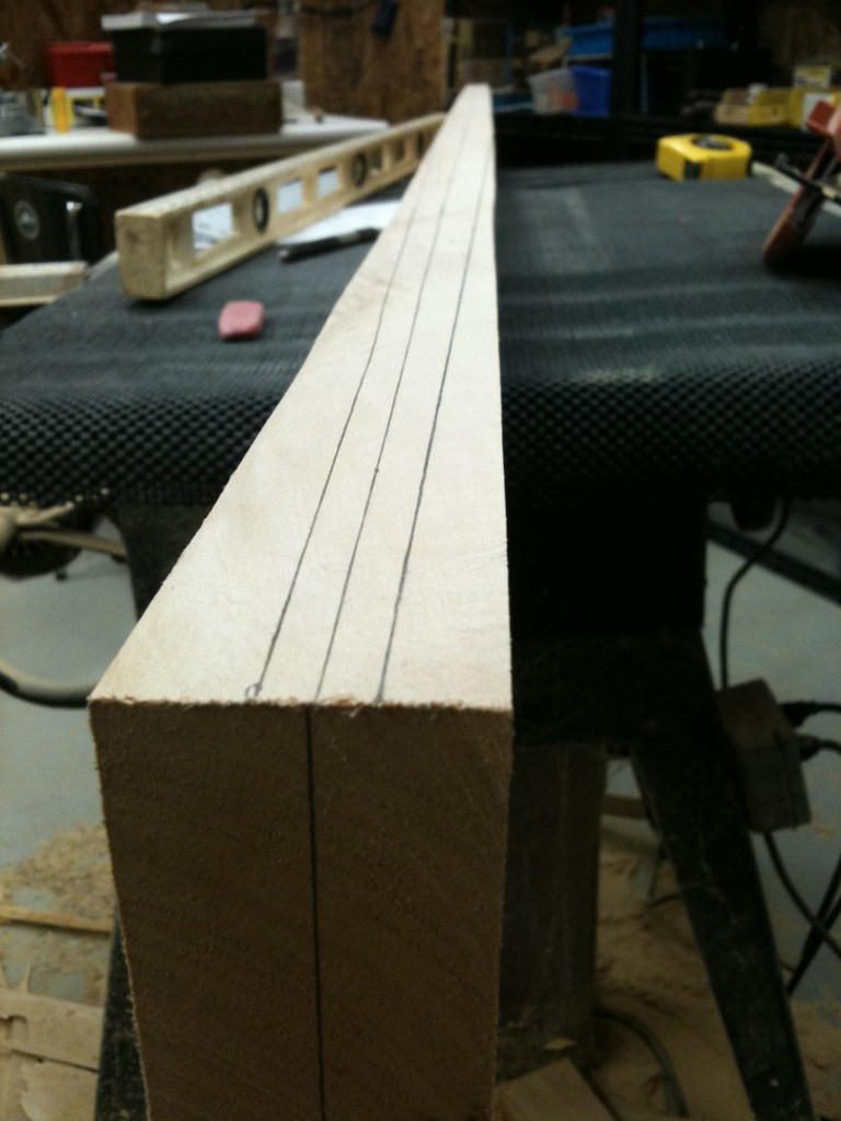 It took a lot of time to find the proper dimensions for my paddle and do the marking.