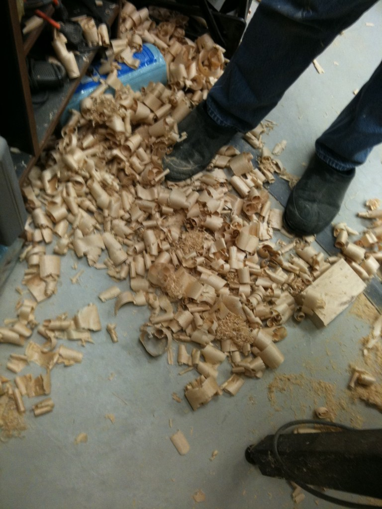There's something satisfying about standing in pile of wood shavings that you created.