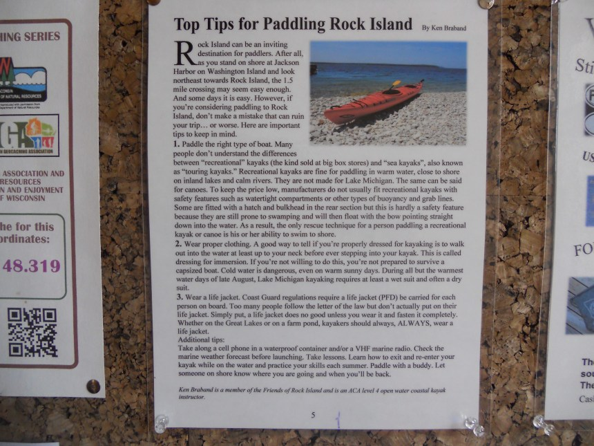 I was pleased to see an article I was asked to write for the Friends of Rock Island newsletter is now posted on the boat house bulletin board.