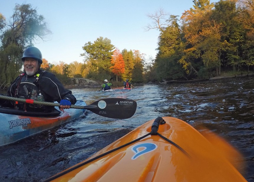 Kayakers on Red River