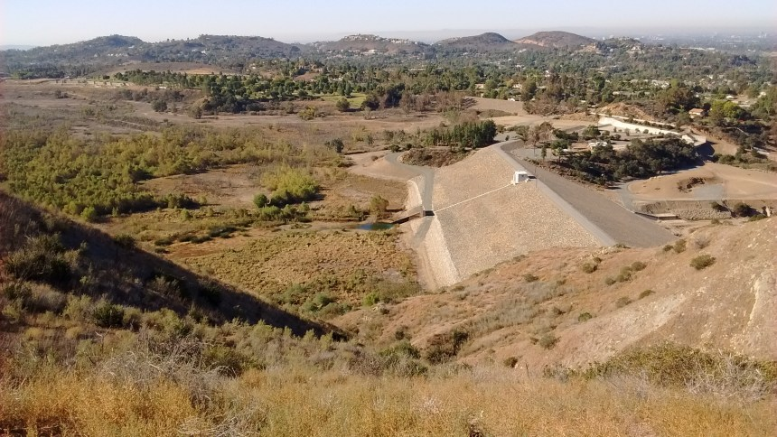 Villa Park Dam is an embankment dam on Santiago Creek. Along with the upstream Santiago Dam, the dam serves primarily for flood control for the cities of Villa Park, Orange, Tustin and Santa Ana and also regulates the inflow of Santiago Creek into the Santa Ana River.