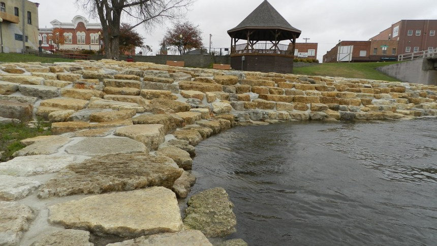 Impressive landscaping surrounds the Manchester Whitewater park.