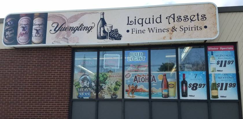 Liquid Assets Outdoor Sign