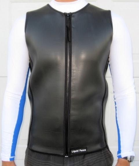 a9e51244c1 Men's 2.5mm Smooth Skin Wetsuit Vest, Front Zipper - Liquid Peace