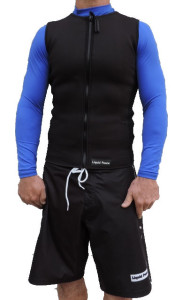 men's 2/1 wetsuit vest with full front zipper