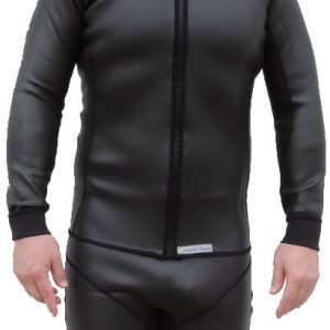 2mm smooth skin wetsuit jacket, long sleeve, full front zipper