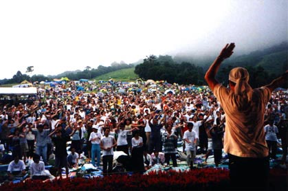 MCB revs up the crowd in Madarao, Japan, August 2000.