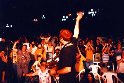Mars gets 'em going at the Quebec City Jazz Festival, July 1998.