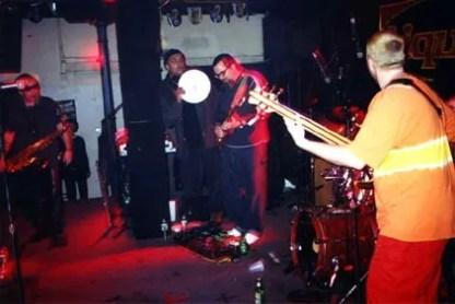 Stirring up rhythms at Peabody's Downunder, Cleveland, spring 2000.