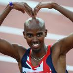 Mo Farah celebrates winning the men's 5,000m final at the European Championships in Helsinki in June