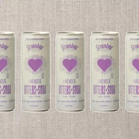 Greenbar Lavender Bitters + Soda
