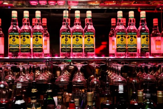 Wray & Nephew backbar