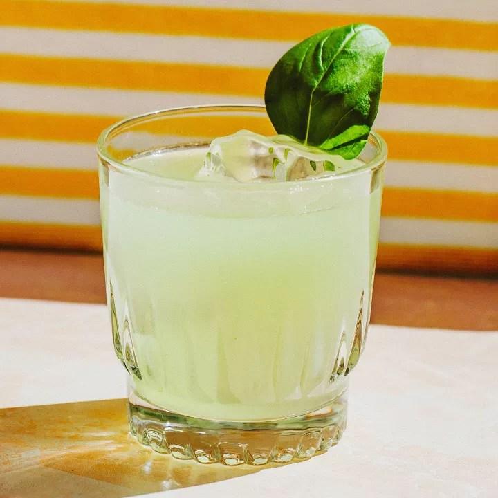 Cucumber, Basil & Lime Gimlet cocktail