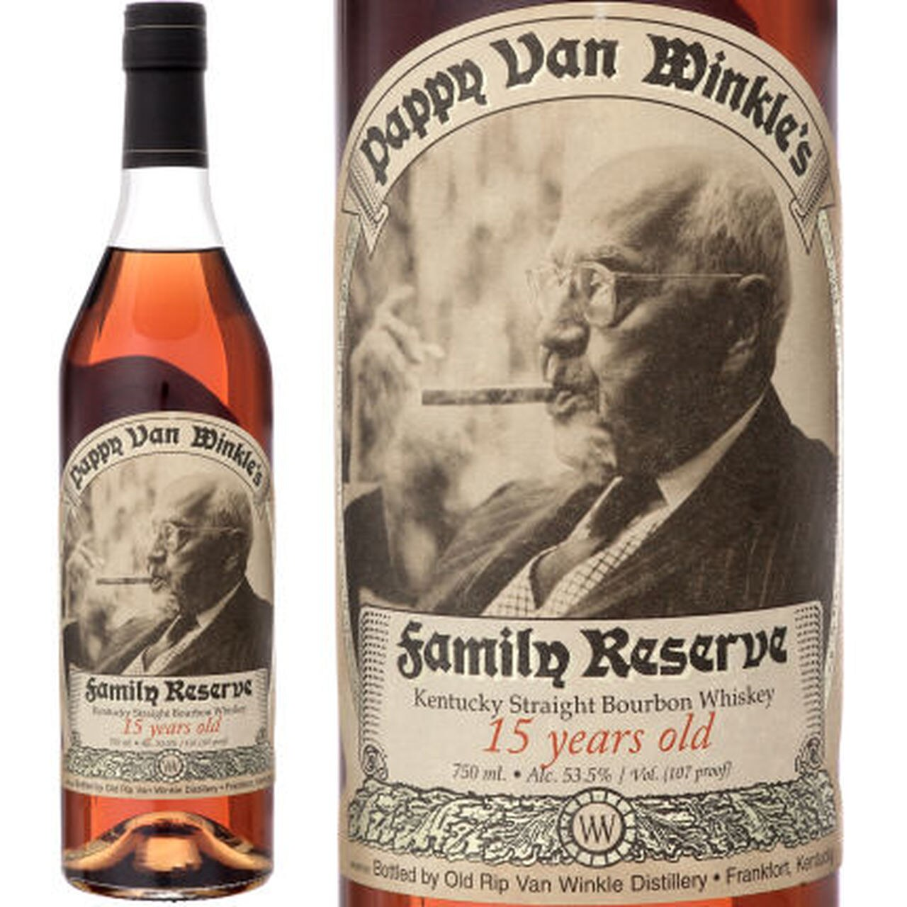 Pappy Van Winkle Family Reserve 15 Year Old Bourbon