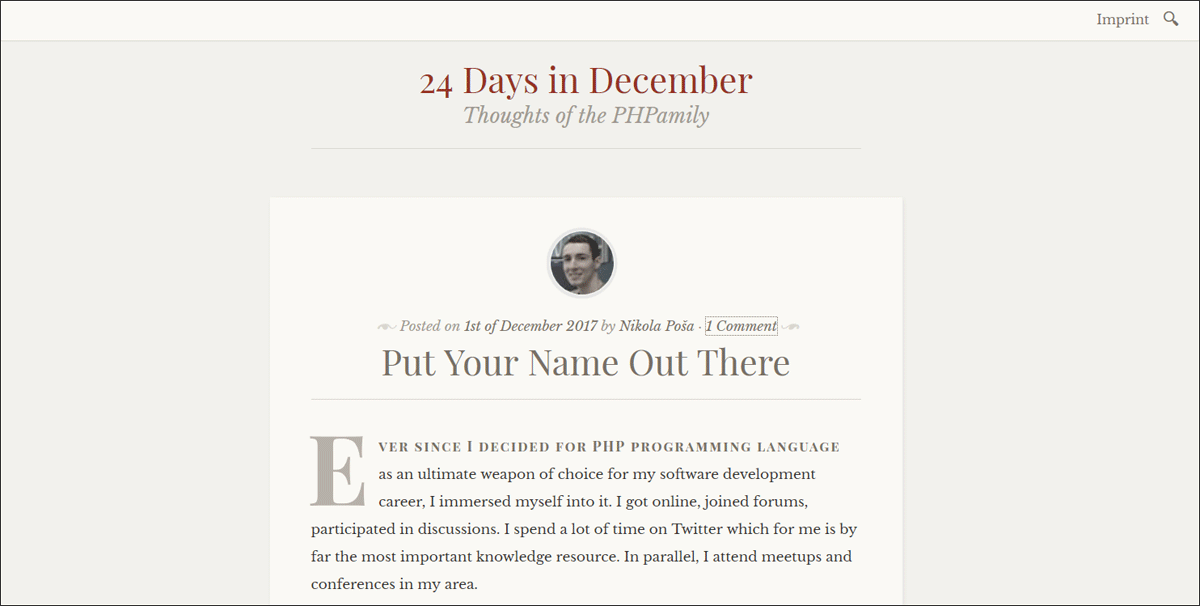 24 days in December Advent Calendar 2017.