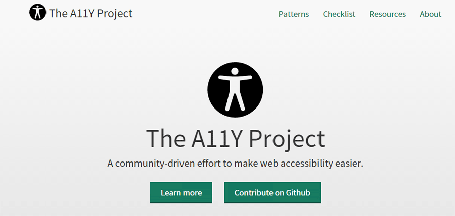 The A11y Project: community driven effort to make web accessibility easier