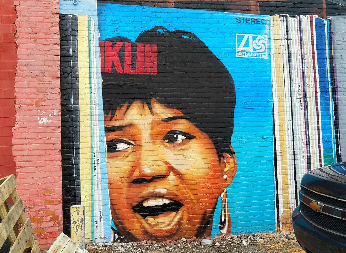 album cover of singer Aretha Franklin