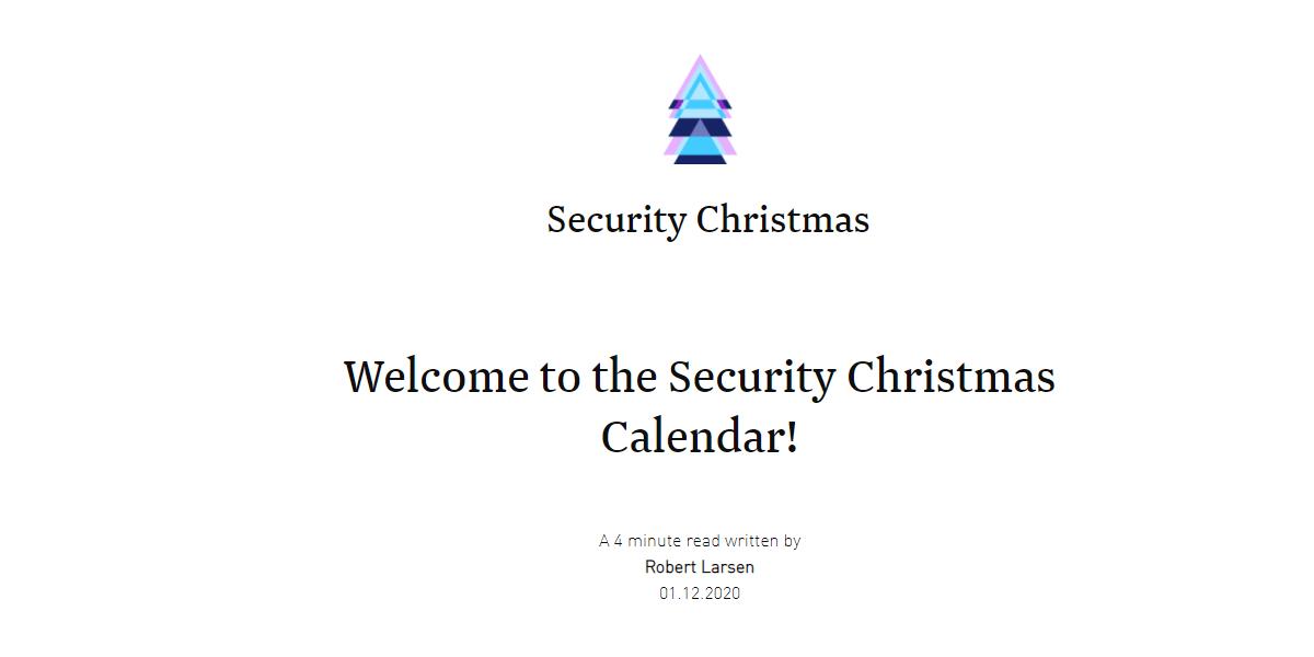 Security Christmas Calendar.