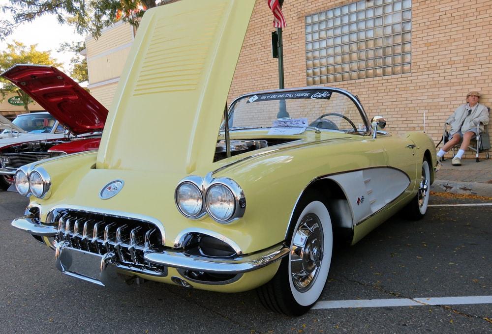 1958 Panama Yellow Chevrolet Corvette convertible