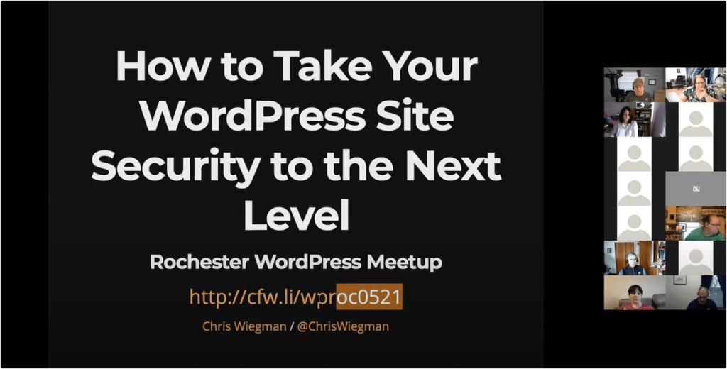 Title presentation slide from livestream for Chris's talk.