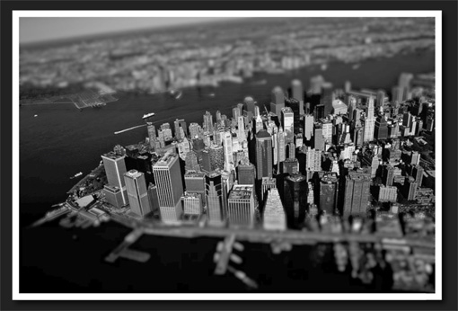 Cityscape in black and white