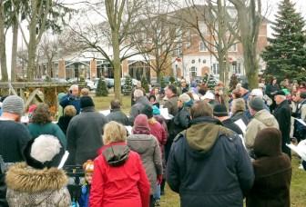 crowd at the community carol sing-along