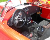 Dashboard of the red Chevrolet Corvette