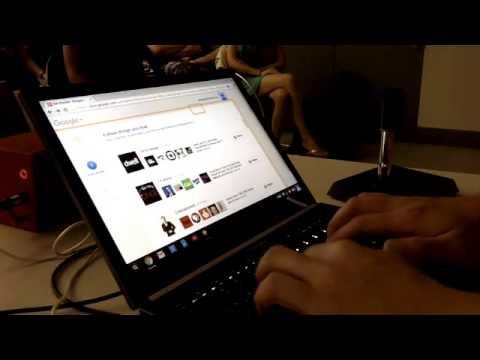 ChromeVox screen reader demo on laptop