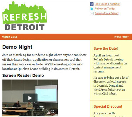 Refresh Detroit newsletter with video