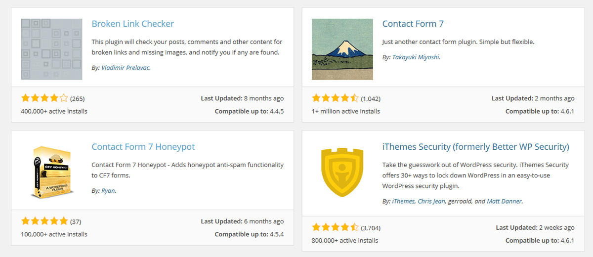 my favorite WordPress plugins from the WordPress directory