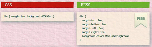 two-columns displaying CSS shorthand code and expanded CSS code