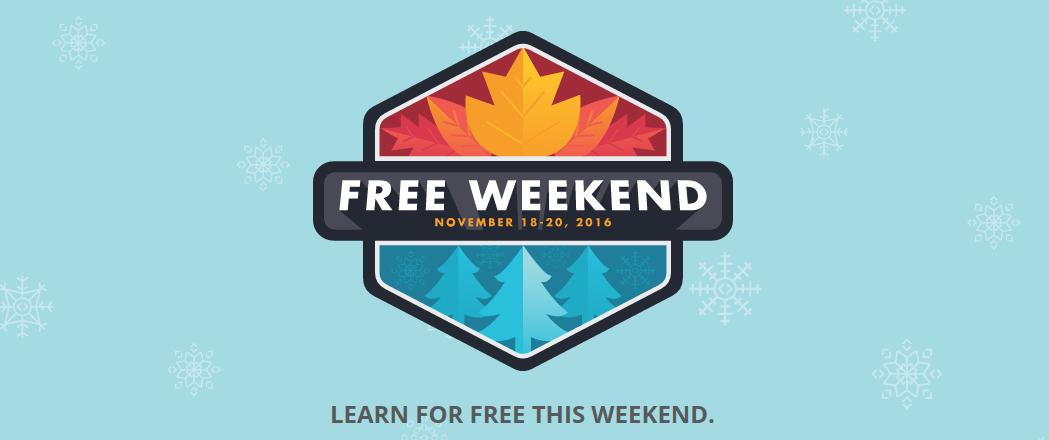 Free Weekend Of Online Courses At Code School