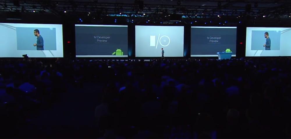 Google I/O keynote and crowd
