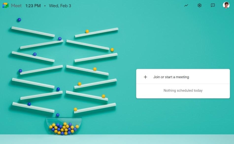Google Meet schedule/join meeting interface.