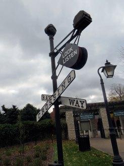 Railway crossing, look and listen