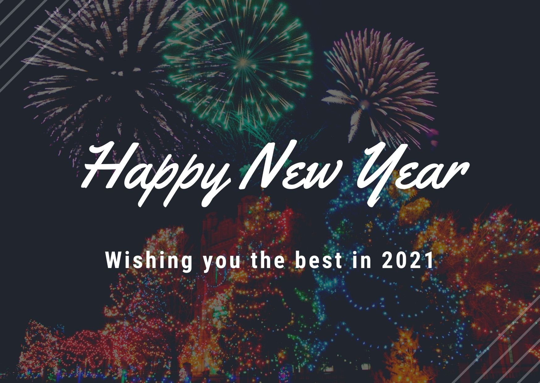 Happy New Year, wishing you the best in 2021.