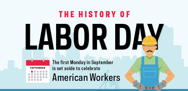 celebrating american workers the history of labor day infographic. Black Bedroom Furniture Sets. Home Design Ideas