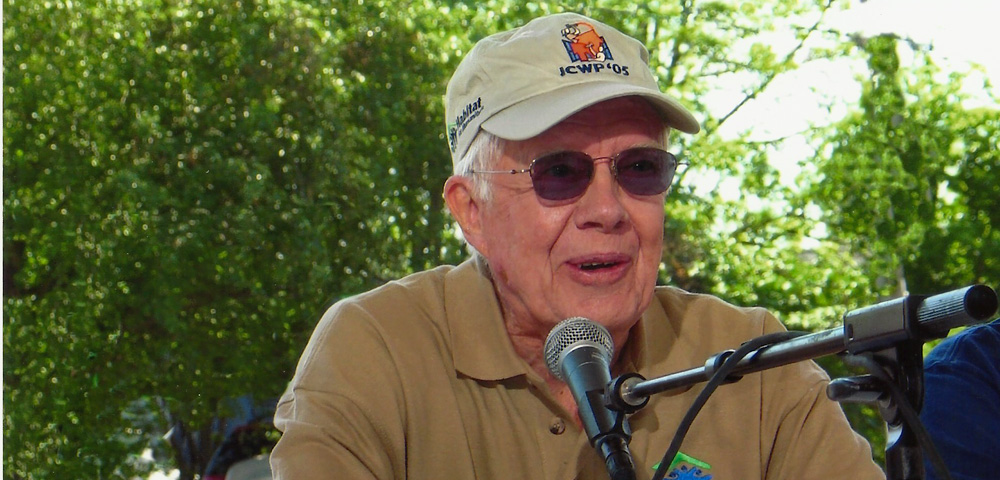Jimmy Carter at JCWP 2005 press conference