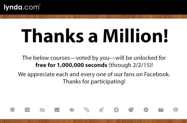 12 Free Online Courses For 1 Million Seconds From Lynda Com