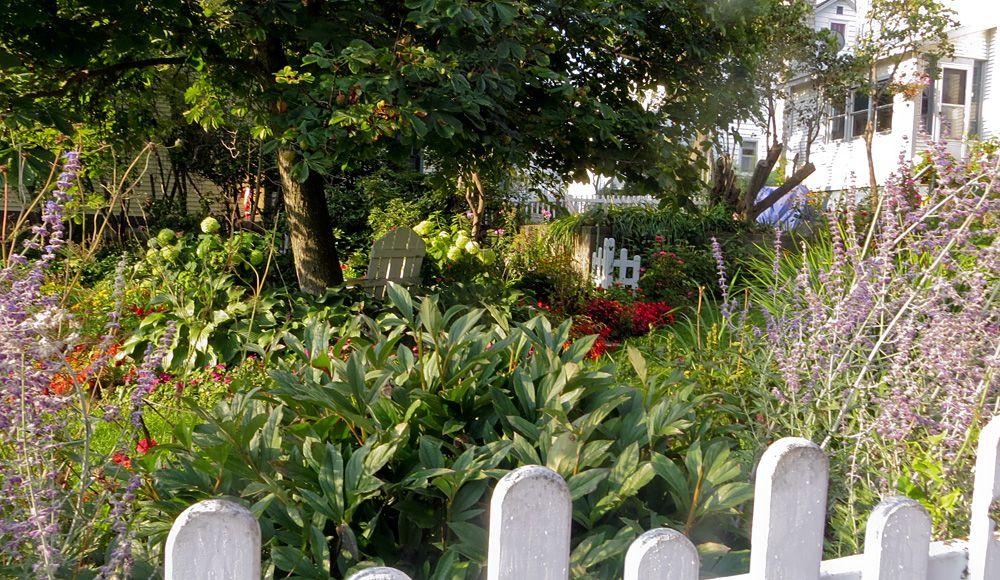 Mackinac Island secret garden