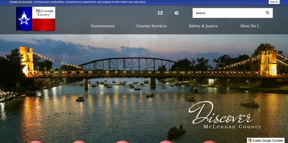 McLennan County website