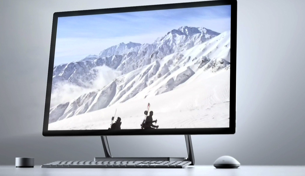Microsoft Surface Studio front-on view